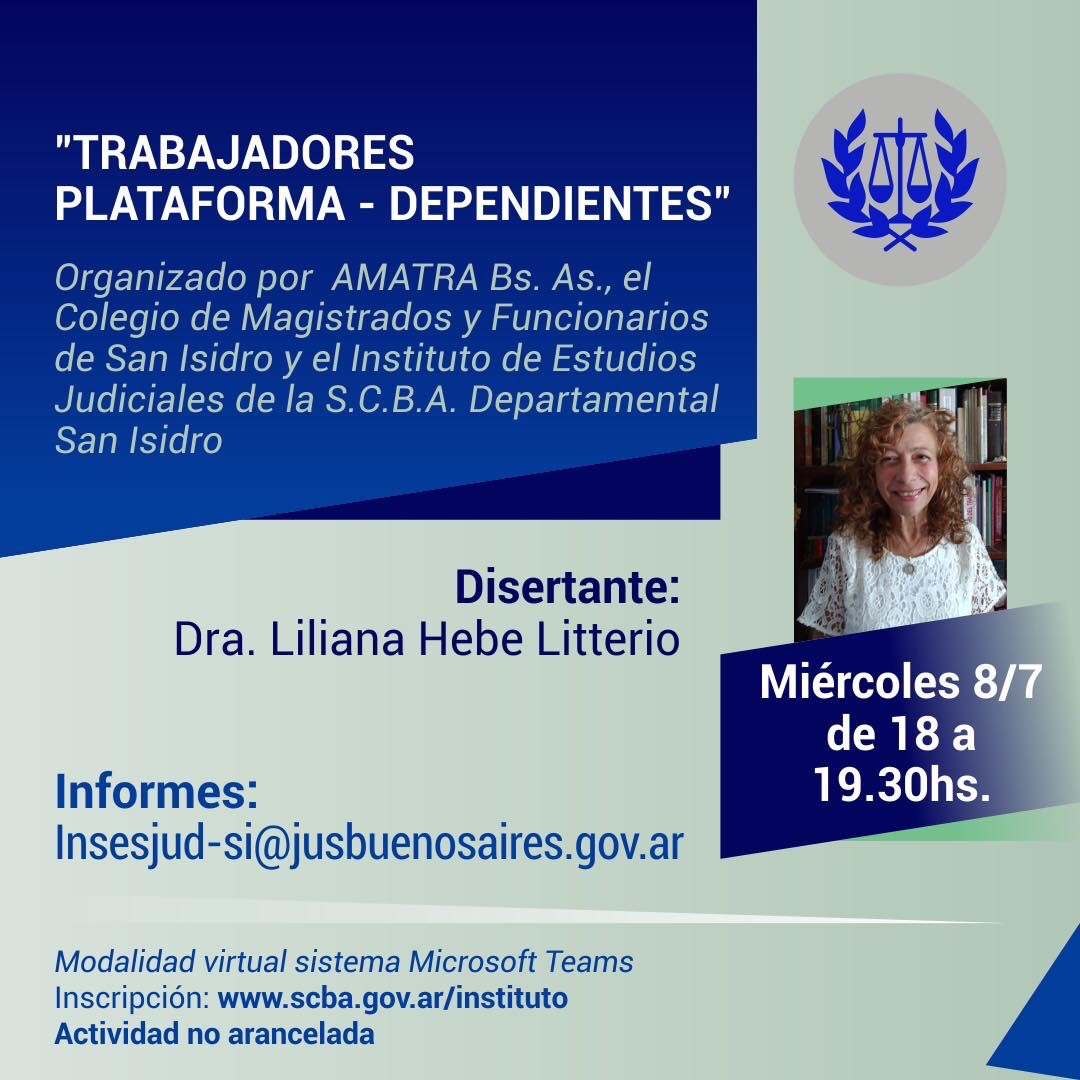 Jornada: TRABAJADORES PLATAFORMA- DEPENDIENTES
