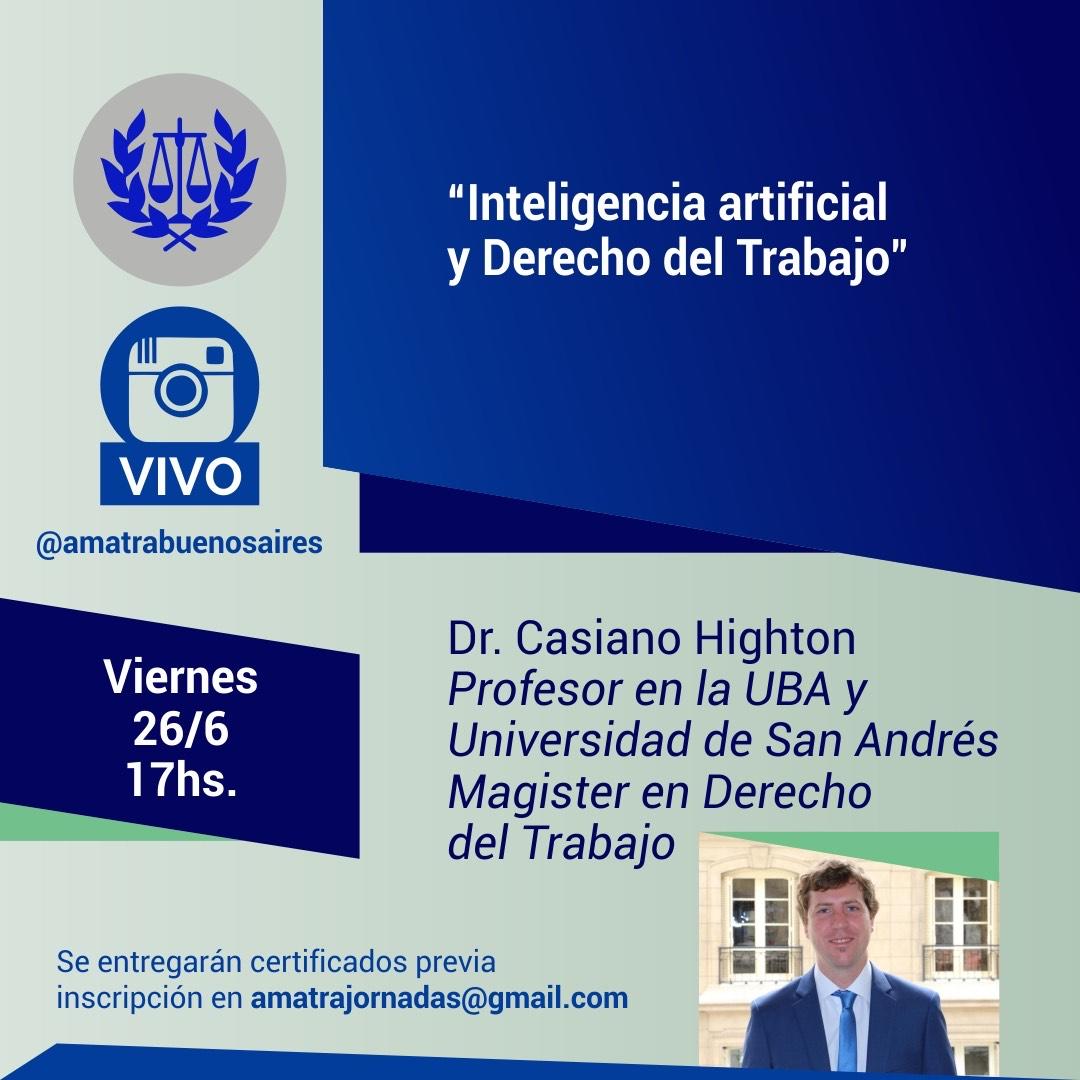 Charla virtual: Inteligencia Artificial y Derecho del Trabajo