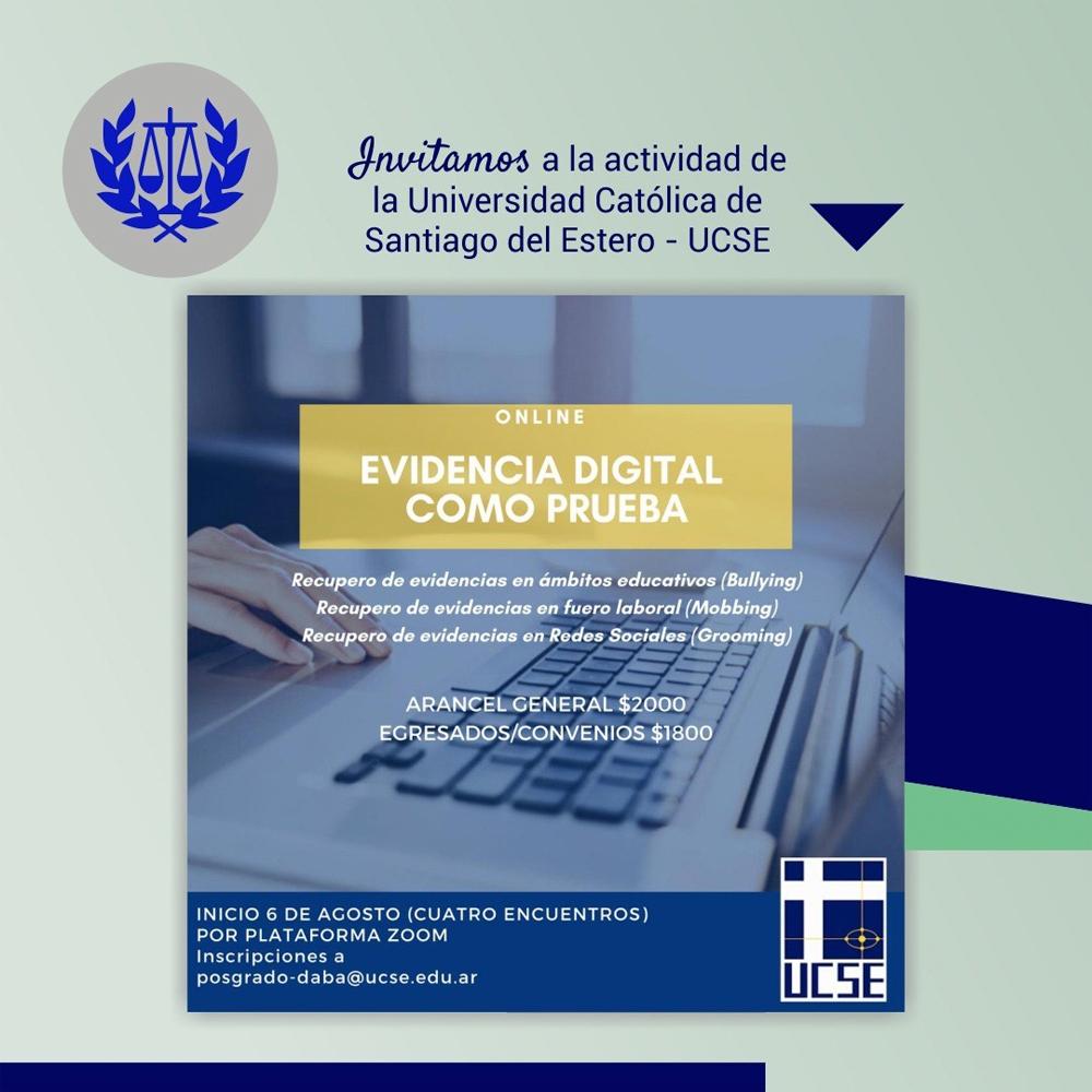 Taller online: EVIDENCIA DIGITAL COMO PRUEBA