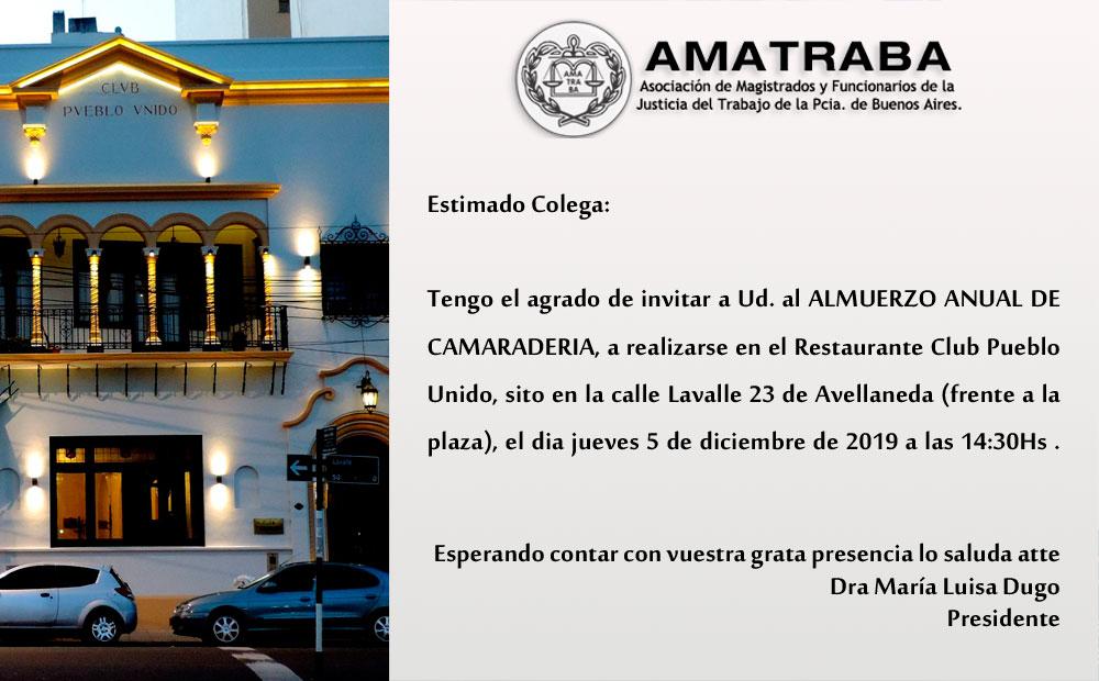 ALMUERZO ANUAL DE CAMARADERIA