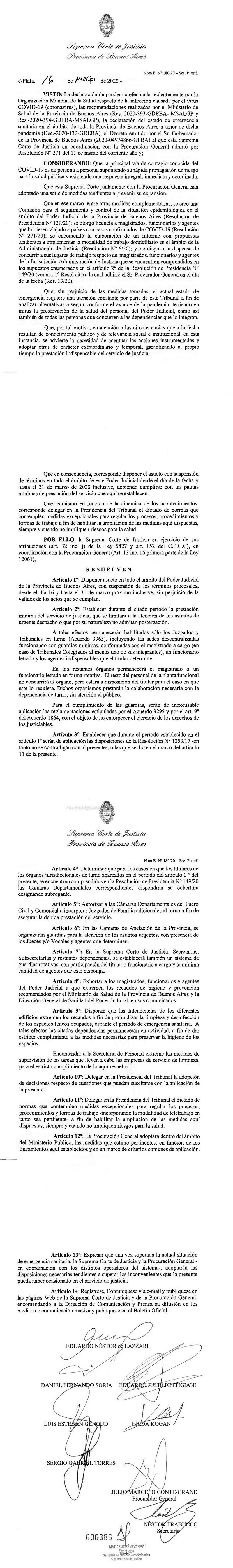 Suspensión de términos del 16 al 31 de Marzo
